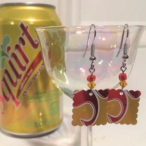 Squirt💦Soda Pop Aluminum Can Handcrafted Earrings